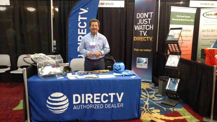 Its All About Satellites Booth at the CHCA 2016 FAll Conference - DIRECTV - TV for Assisted Living