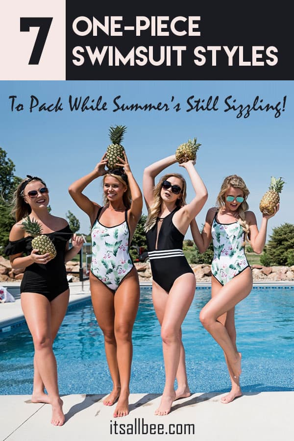 7 One-Piece Swimsuit Styles To Pack While Summer's Still Sizzling! #itsallbee #travel #style #vacation