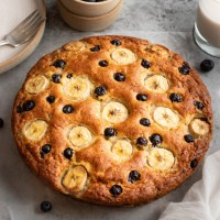 1-Bowl Blueberry Banana Cake