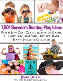 Get the Book: 1,001 Boredom Busting Play Ideas for families and kids.