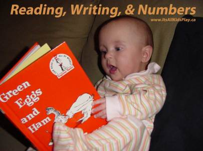 Reading, Writing, and Number for Kids - baby reading book