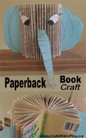 paperback book craft for kids