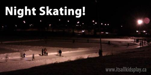 night skating with the family