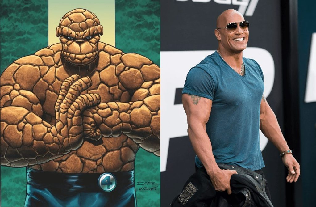 The Rock should play The Thing in the MCU