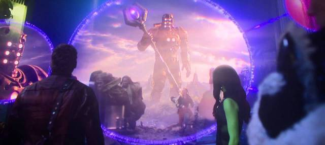 Celestials shown in a flash during Guardians of the Galaxy (2014)