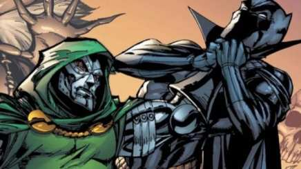 Doctor Doom fights the Black Panther