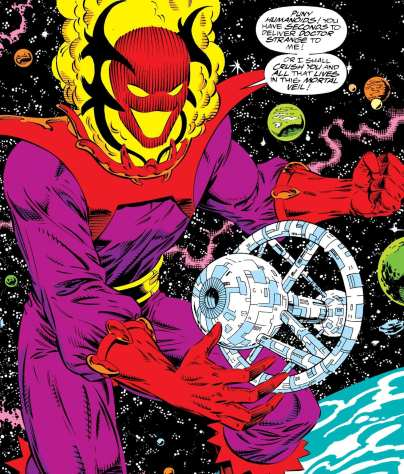 How Dormammu appears in the comics