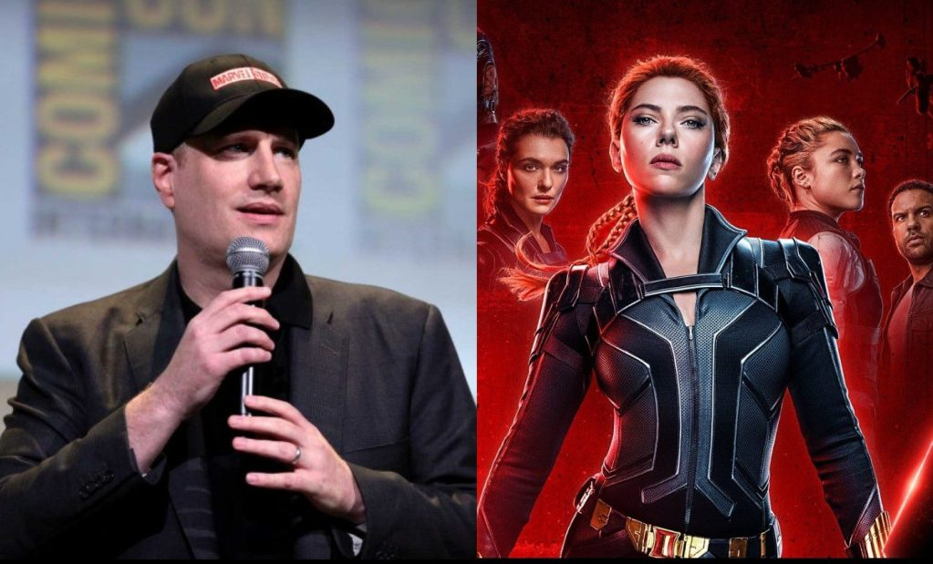 Marvel Studios head Kevin Feige is opposed to releasing Black Widow simultaneously in theaters and on Disney+