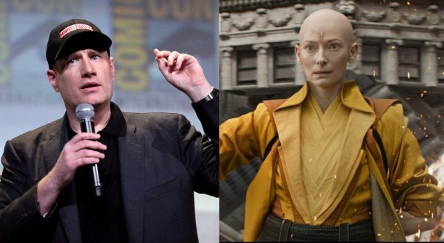 Marvel Studios boss Kevin Feige says casting Tilda Swinton as a whitewashed Ancient One was a mistake