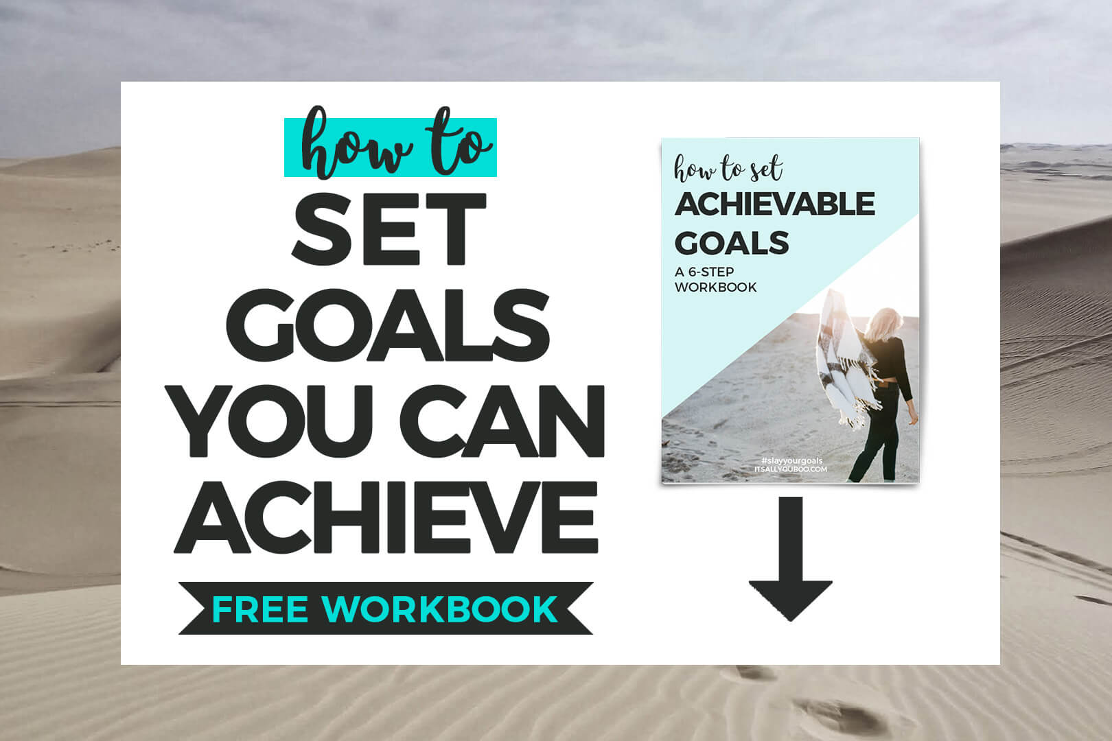 How to Set Achievable Goals FREE WORKBOOK with preview image of free download