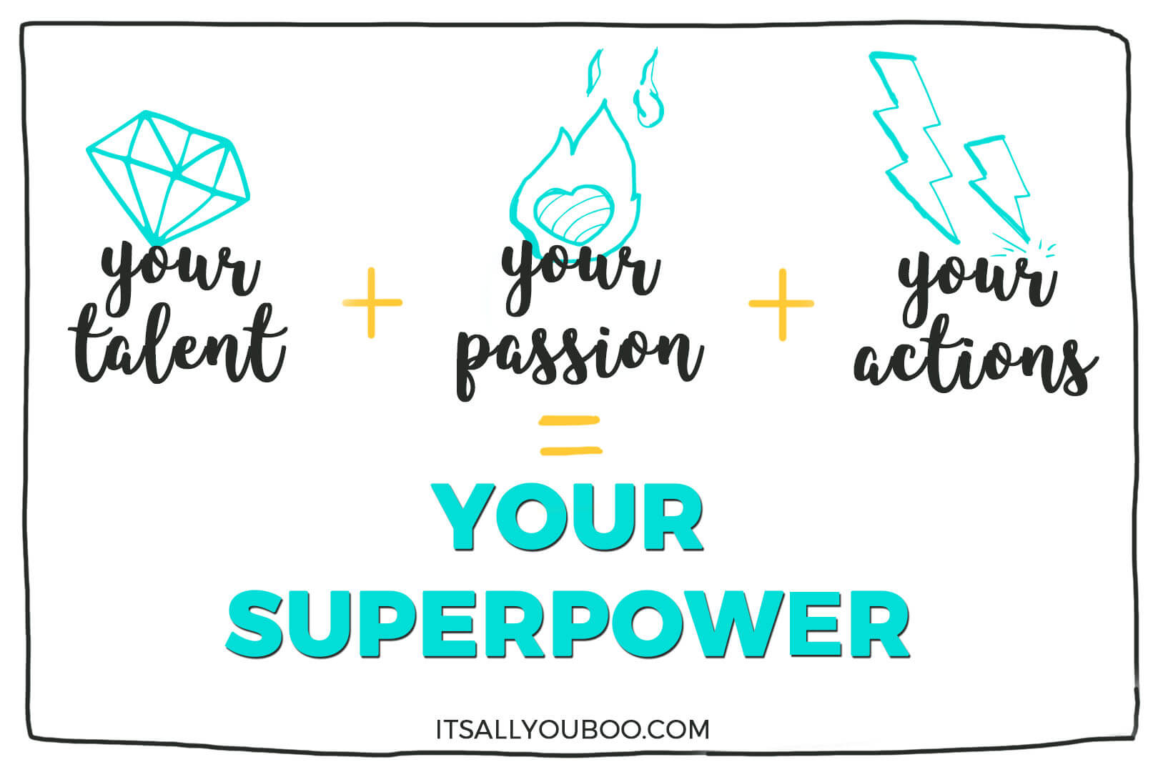Your Talent + Your Passion + Your Actions = Your Superpower. What's Yours?