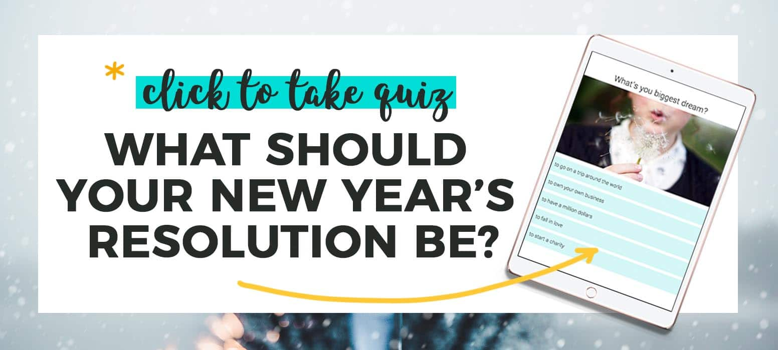 Take the New Year's Resolution Quiz
