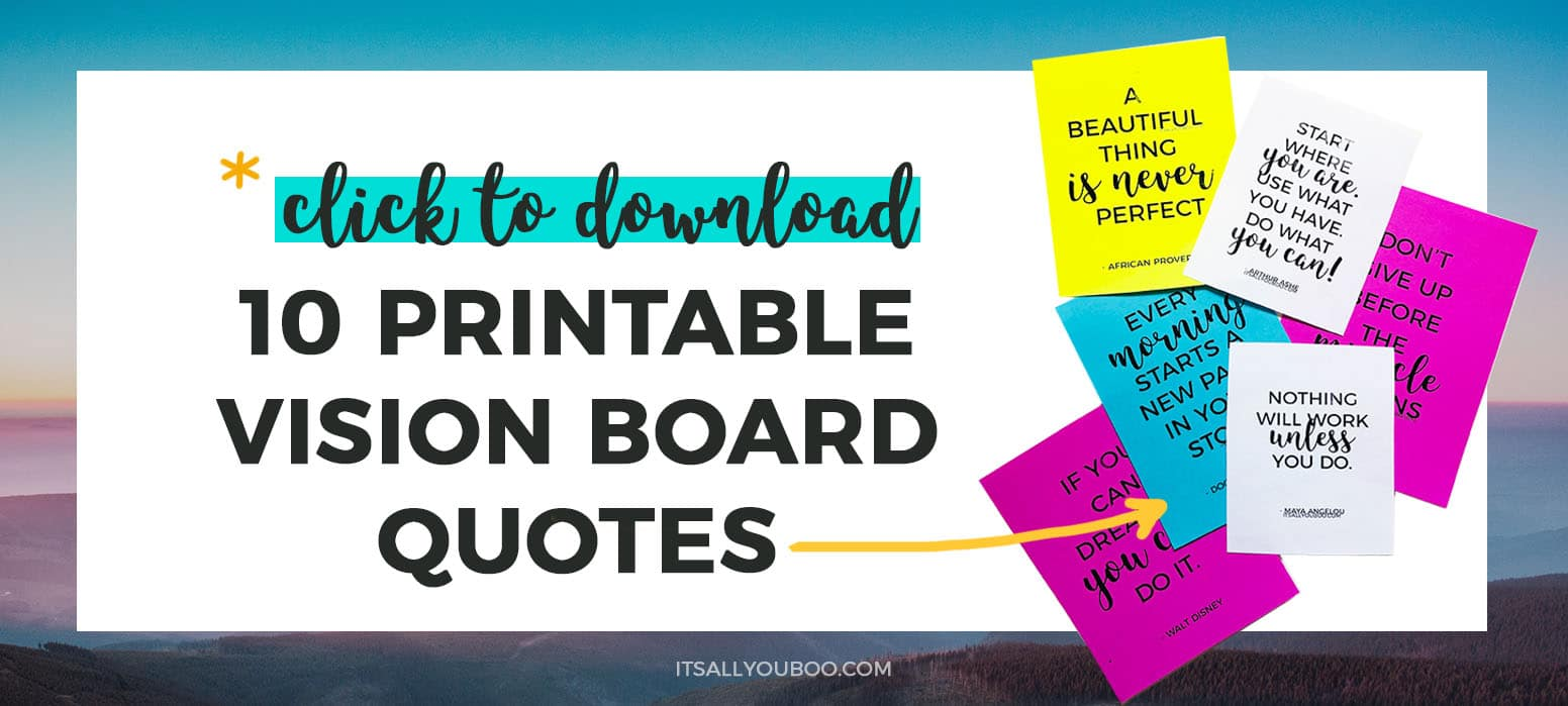 Get Your Printable Vision Board Quotes