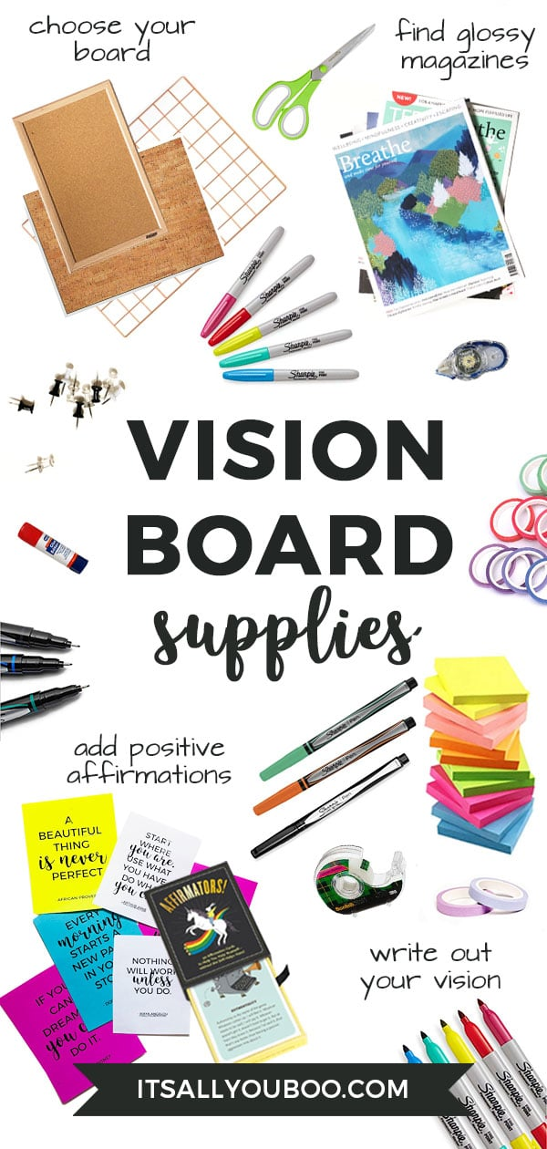 How to Make a Vision Board - Supplies