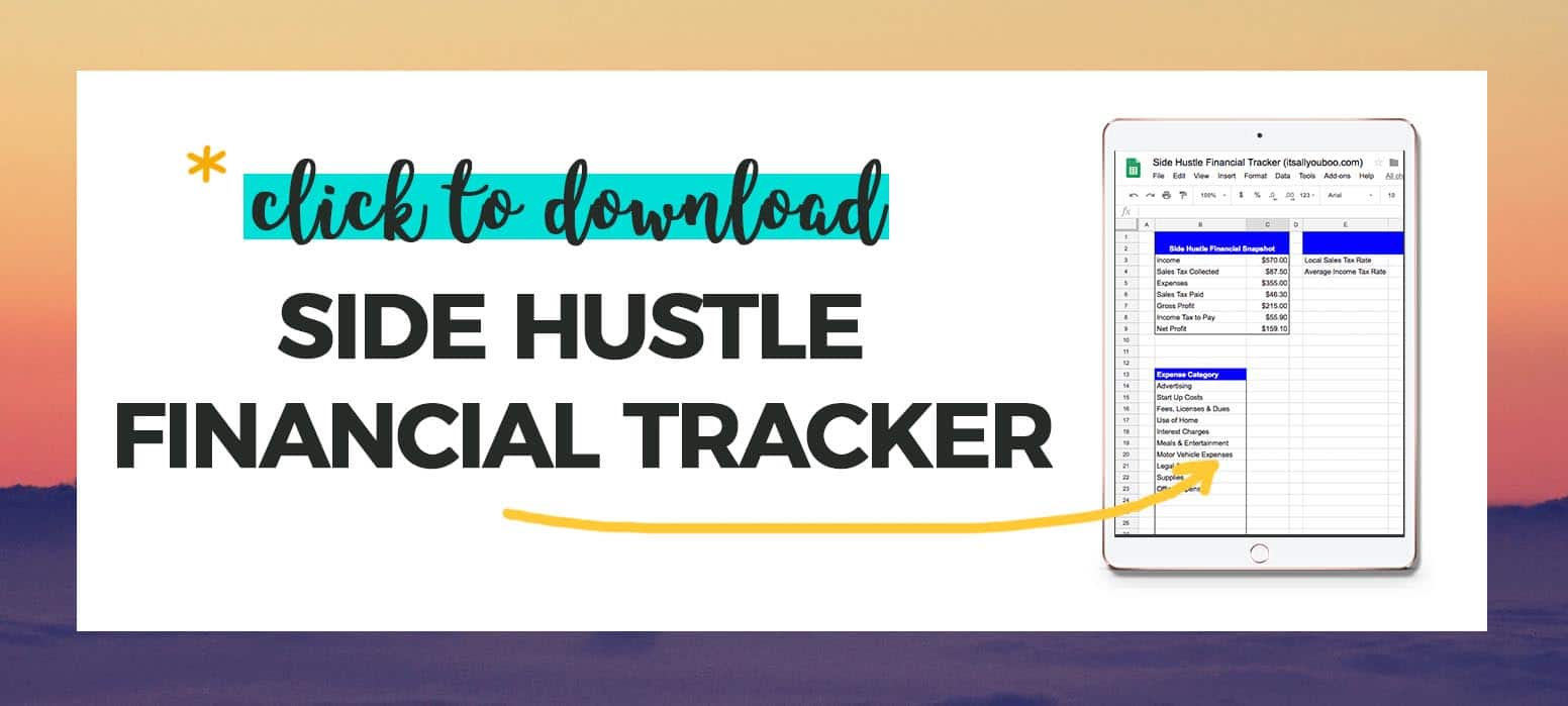 Click to download FREE Financial Tracker Spreadsheet