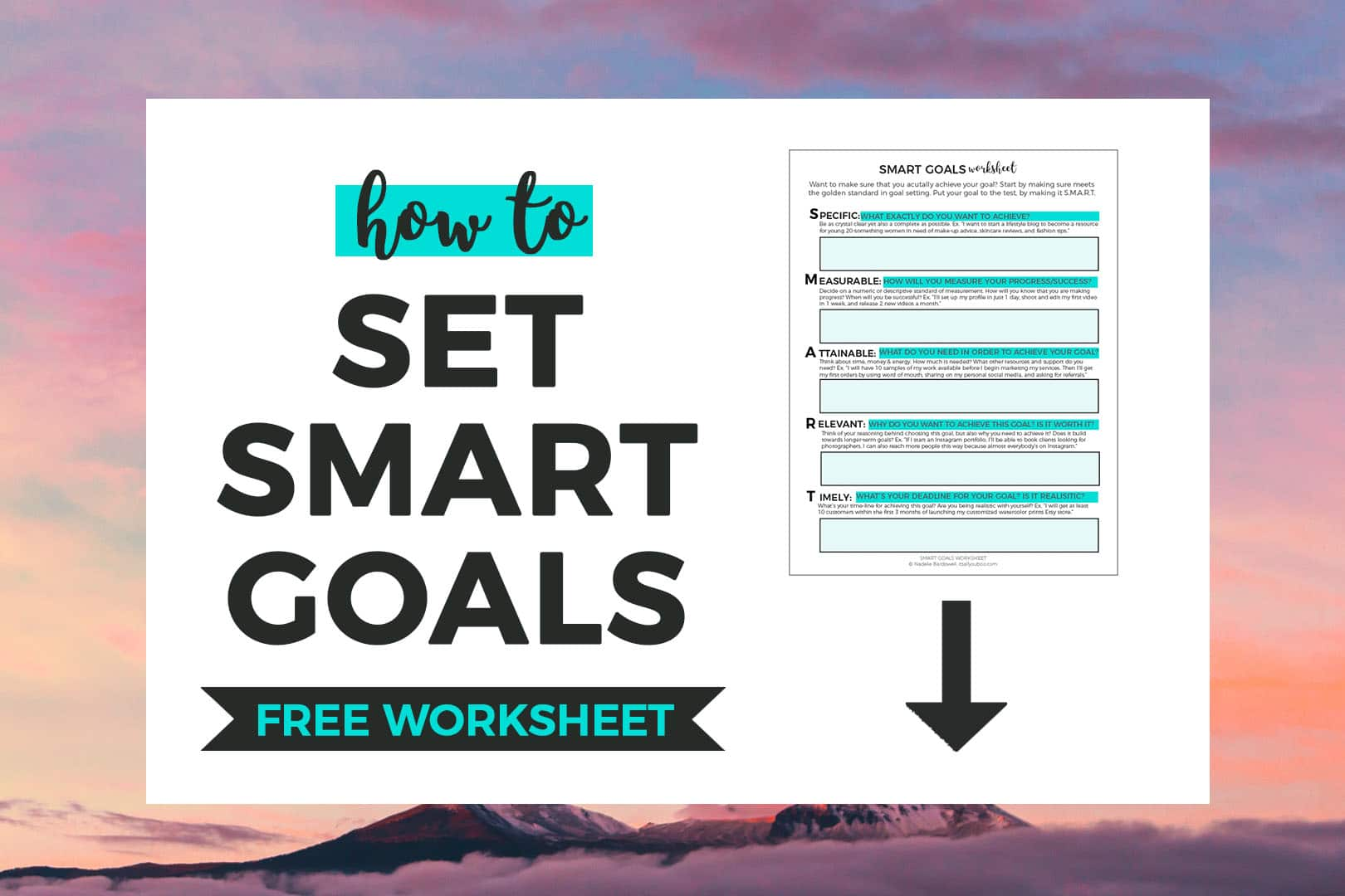Free Smart Goals Worksheet