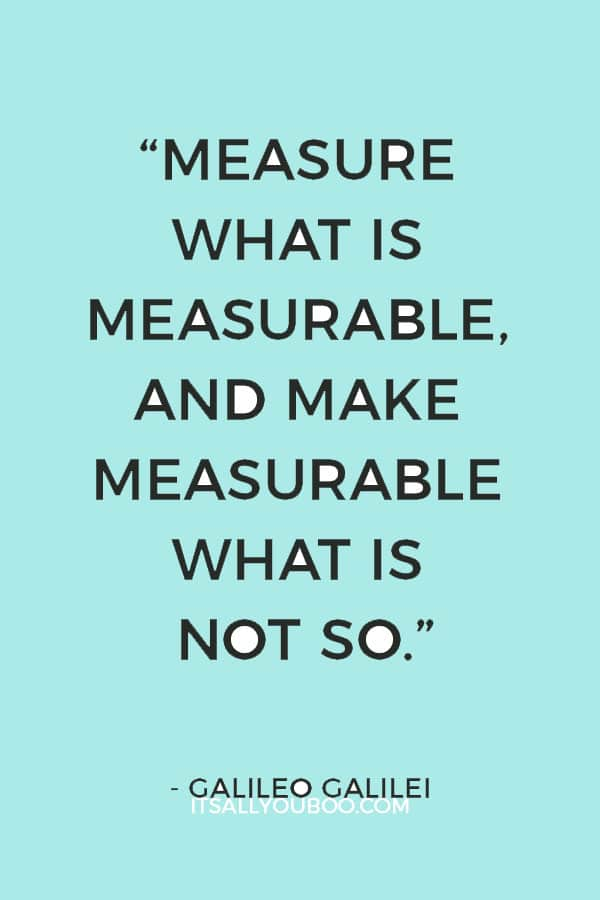 """""""Measure what is measurable, and make measurable what is not so."""" – Galileo Galilei"""