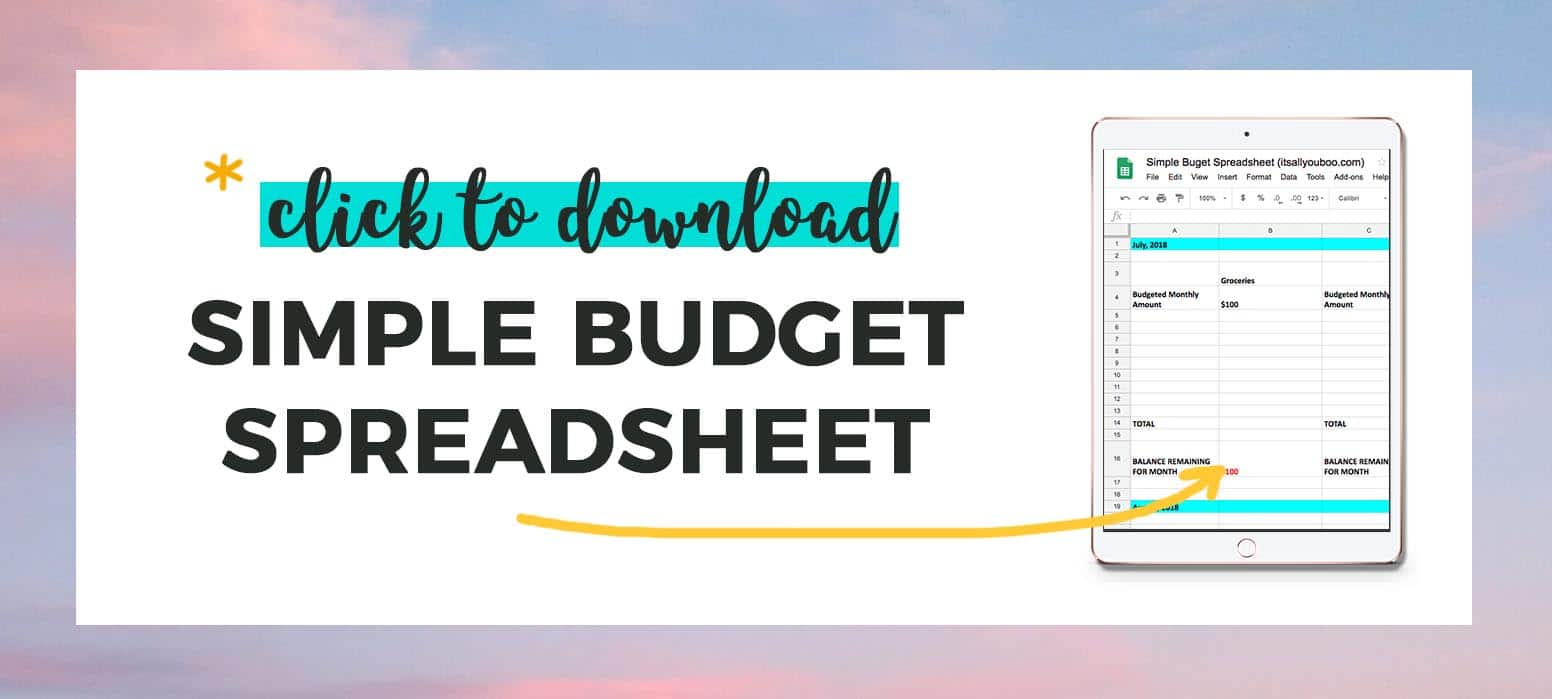 Click to download the Simple Budget Spreadsheet