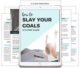 preview image of the slay your goals guide on an ipad