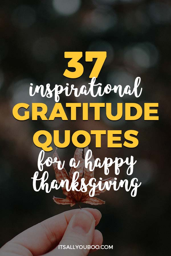 37 Inspirational Gratitude Quotes for a Happy Thanksgiving