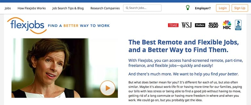 Earn money from home working remote Flexjobs