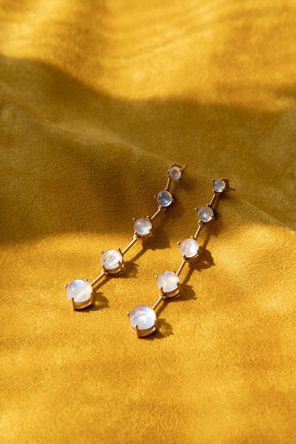 Cat Janiga Gem Stone Earrings