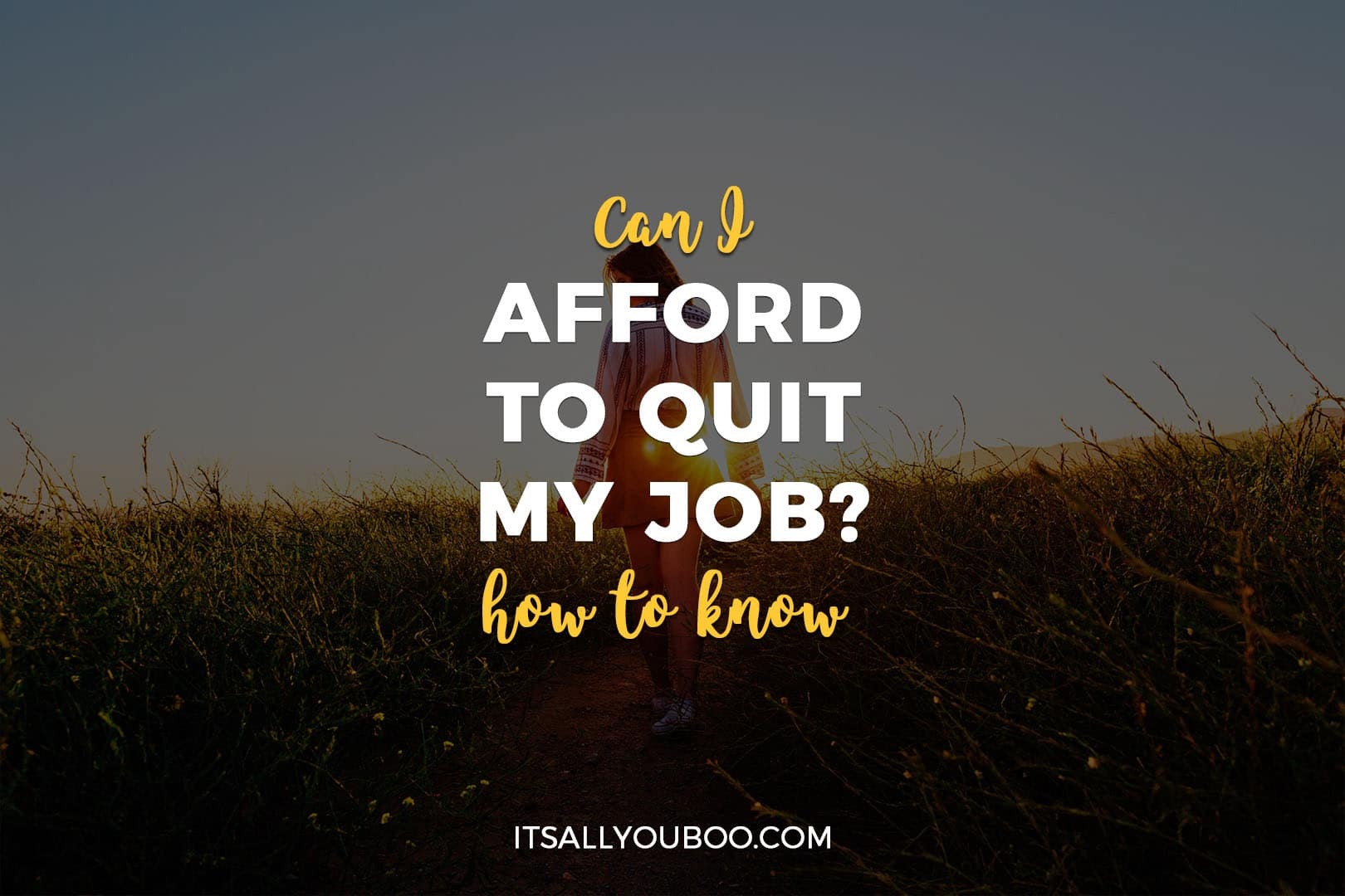 Can I Afford to Quit My Job? How to know.