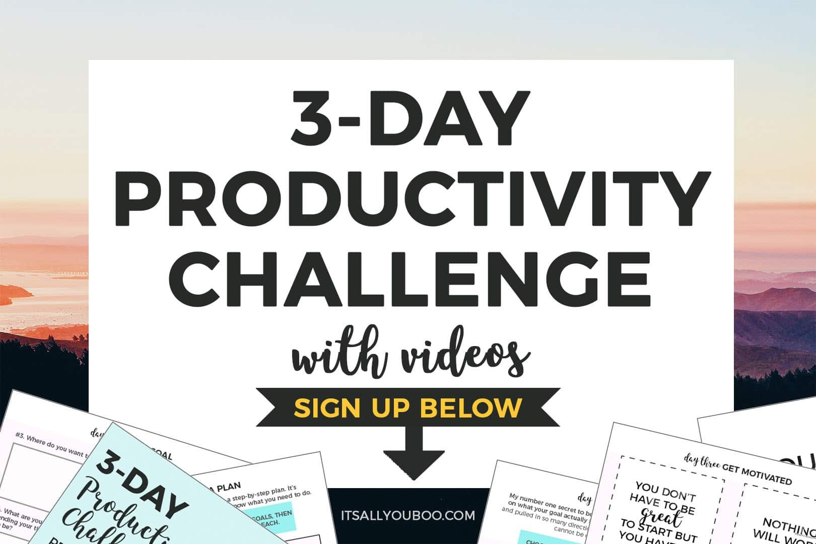 3 Day Productivity Challenge