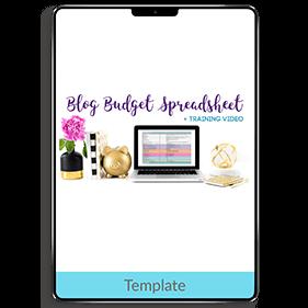 Blog Budget Spreadsheet (Template)
