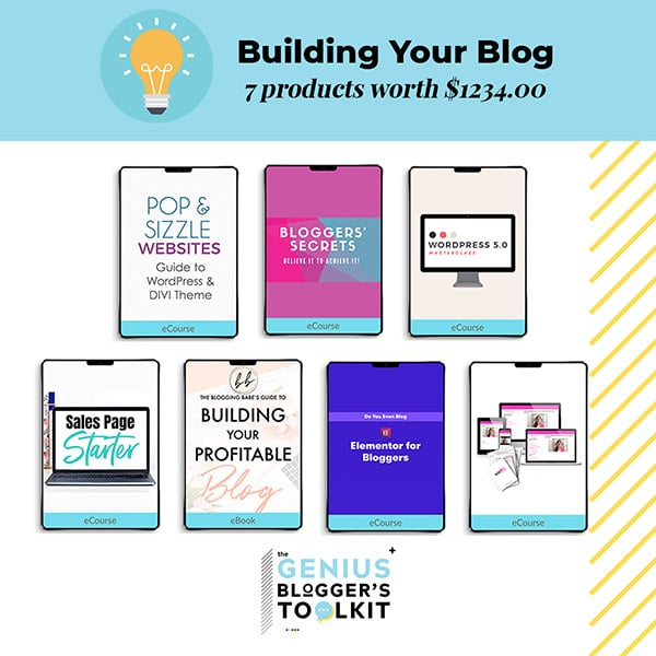 The Genius Blogger Toolkit 2019 Review Building Your Blog Resources