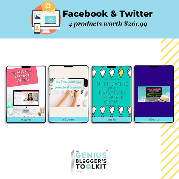 Genius Blogger Toolkit 2019 Review Facebook and Twitter Resources