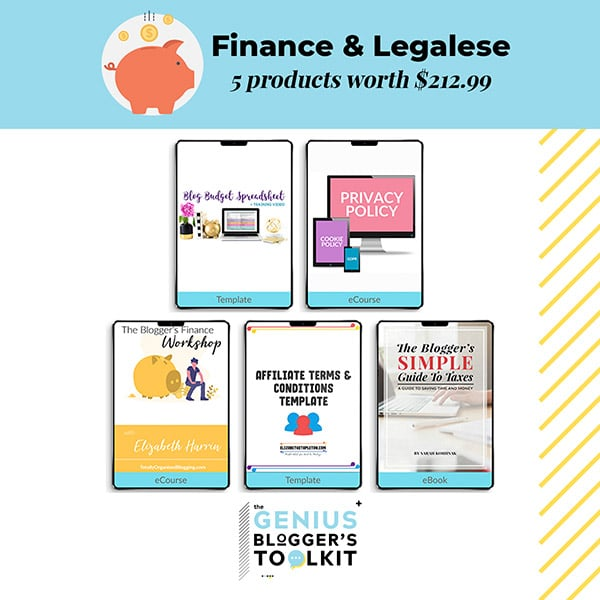 Genius Blogger Toolkit 2019 Review Finance and Legalese Resources