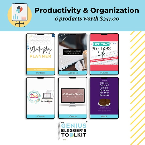 The Genius Blogger Toolkit 2019 Review Productivity and Organization Products