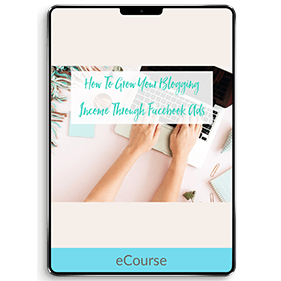 How To Grow Your Blogging Income Through Facebook Ads (eCourse)