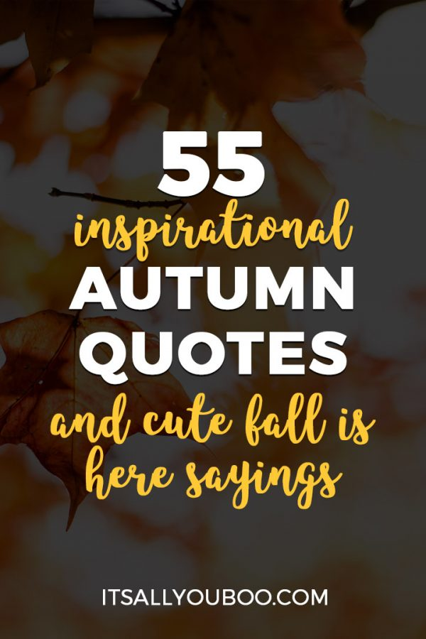 55 Inspirational Autumn Quotes and Cute Fall Is Here Sayings