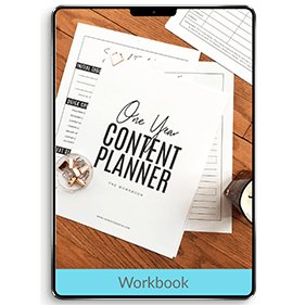 One Year Content Planner: Blog & Social Media Planning Workbook (Workbook)