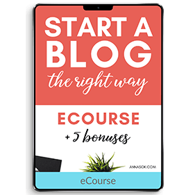 Start a Blog the Right Way (eCourse)