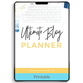 The Ultimate Monthly Blog Planner (Printable)