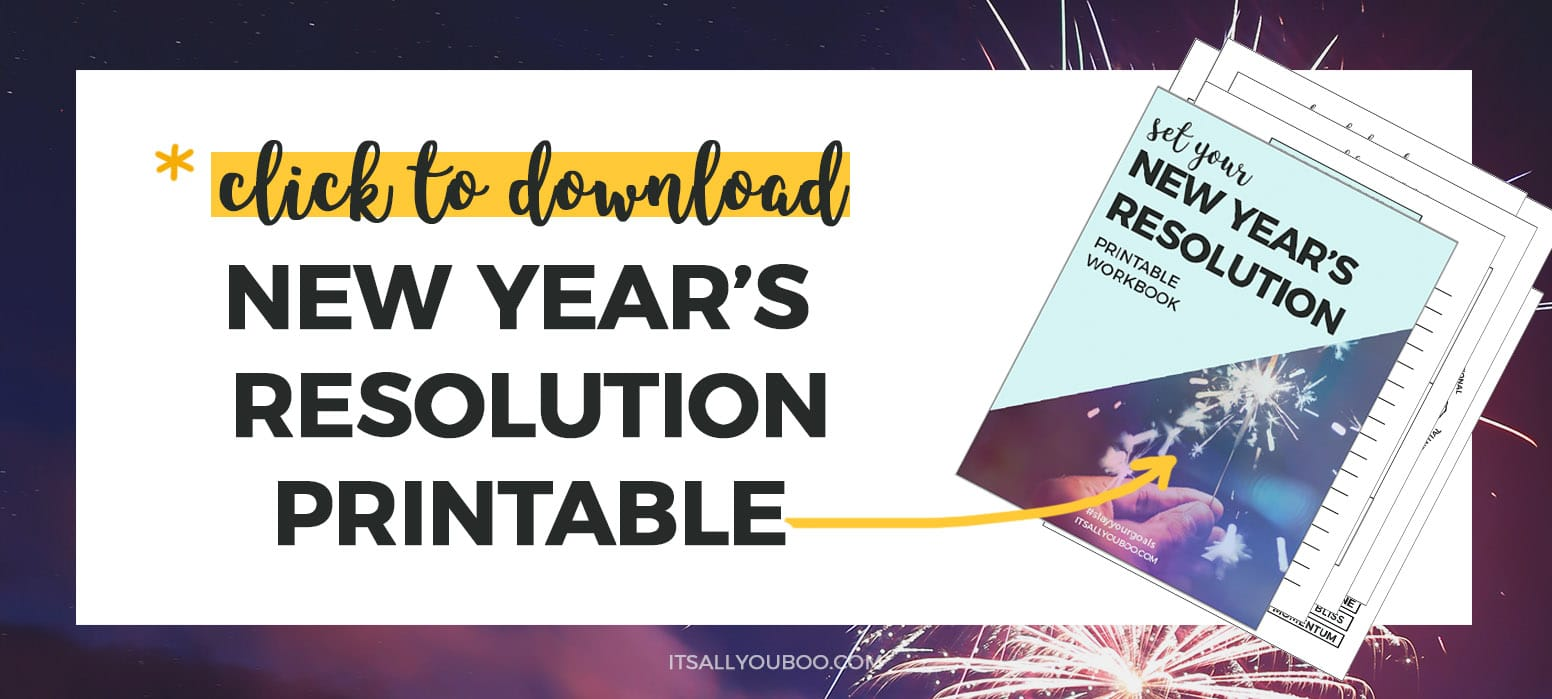 Free New Year's Resolution Printable