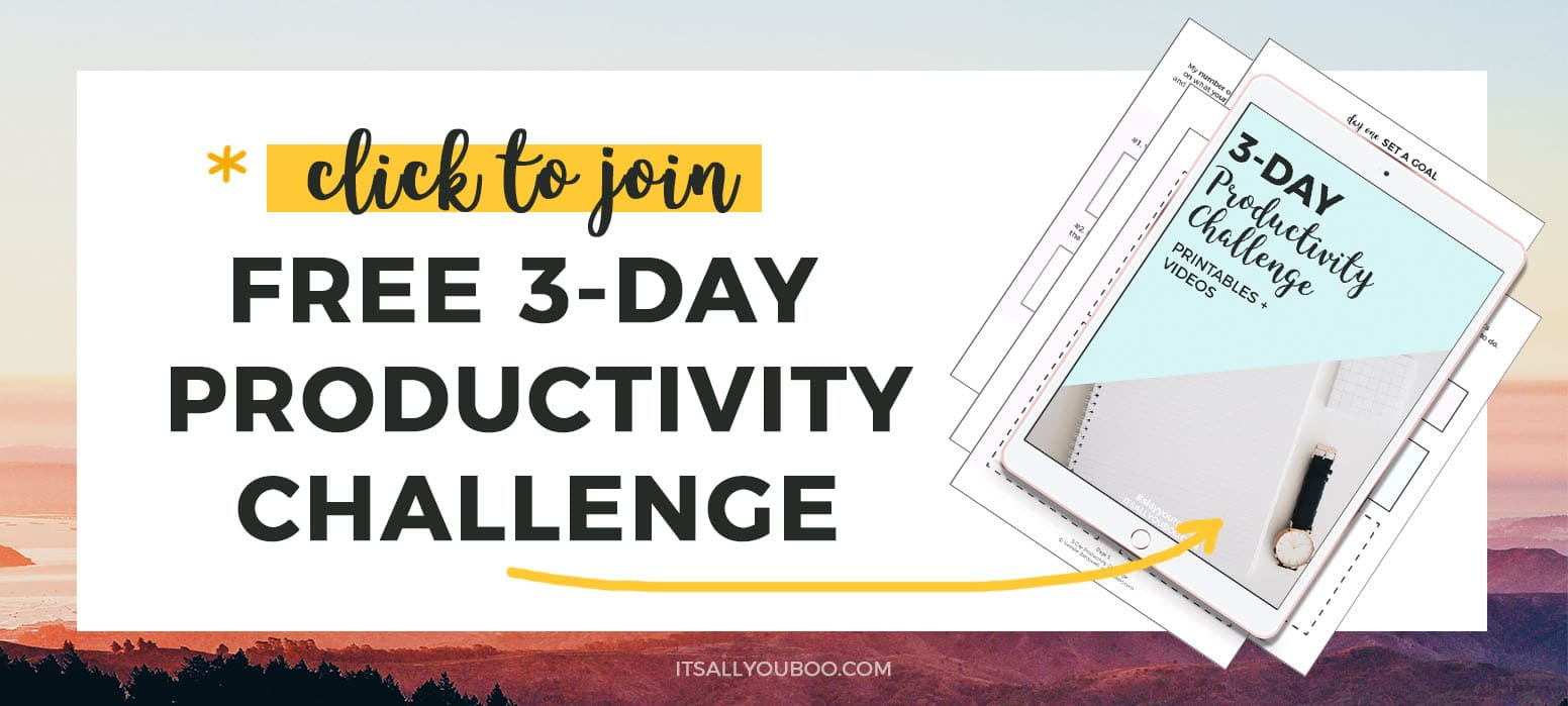 Click to join FREE 3-Day Productivity Challenge
