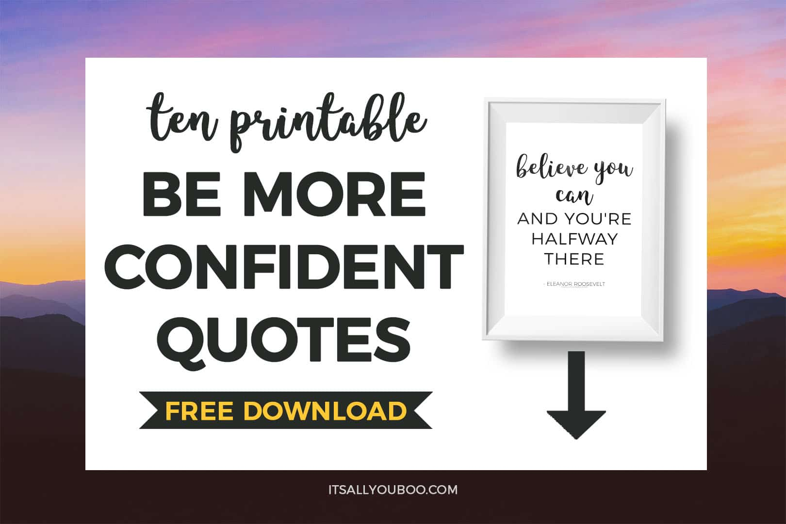 Free Printable Quotes About Confidence
