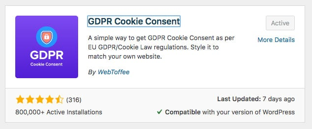 Add a GDPR Cookie Consent Popup