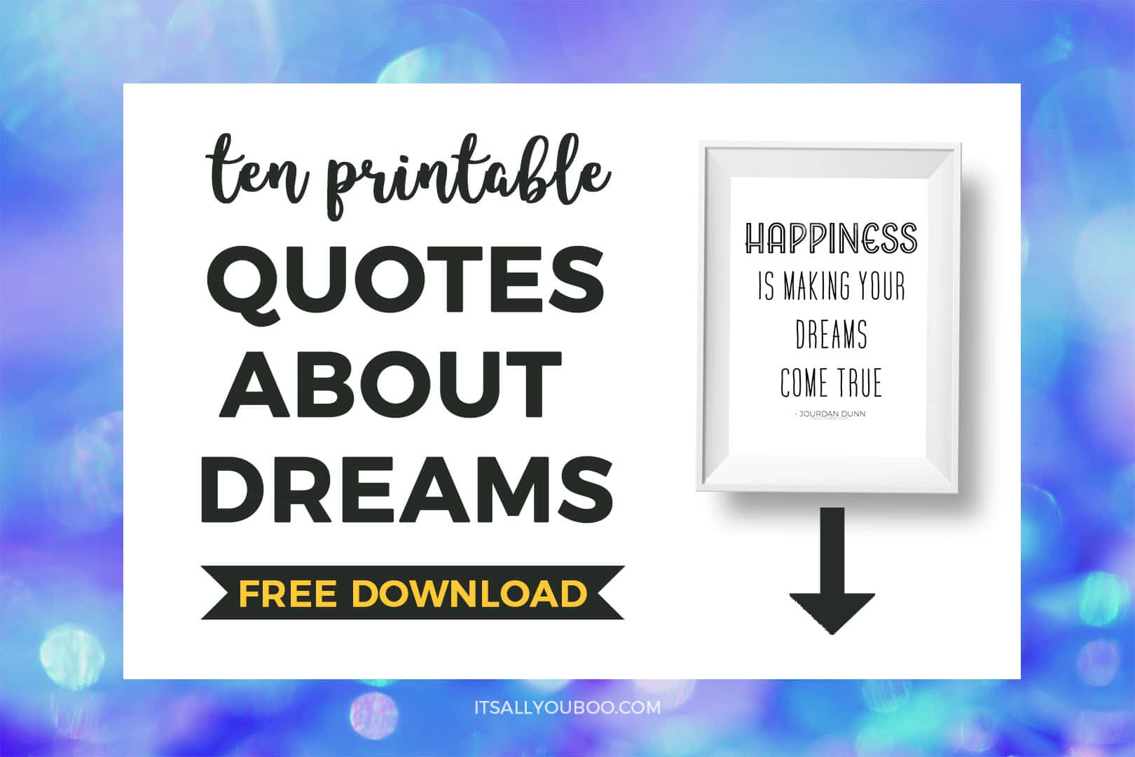 Printable Quotes About Dreams