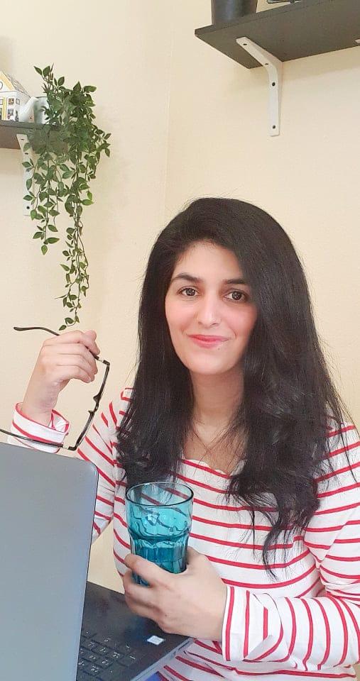 Saima Nadeem working from home