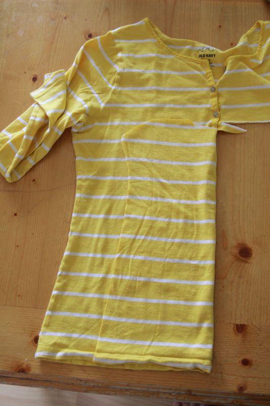 Dress pattern piece folded in half to cut other side