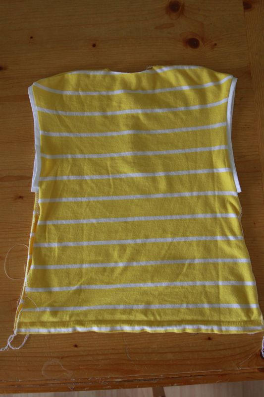 baby dress with finished arm holes