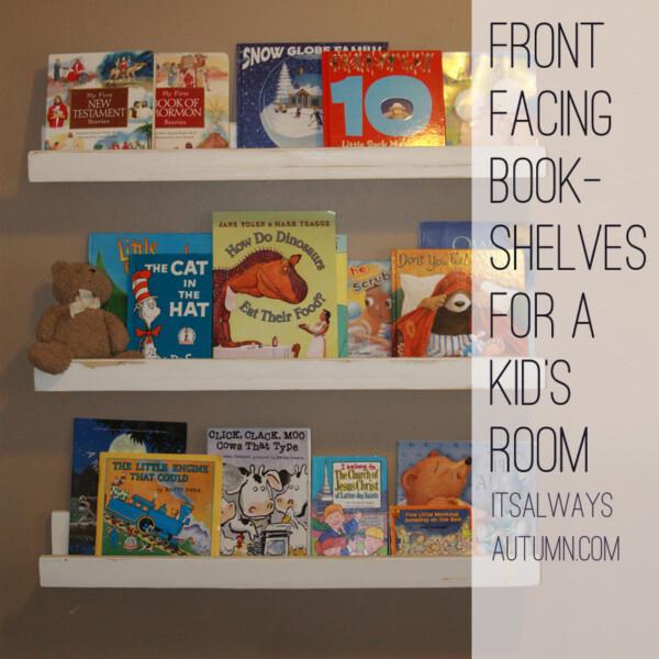 DIY front facing bookshelves