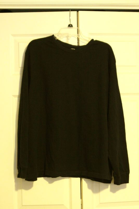 Adult size long sleeve shirt on a hanger