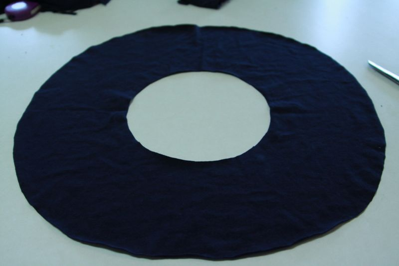 donut shape cut from fabric