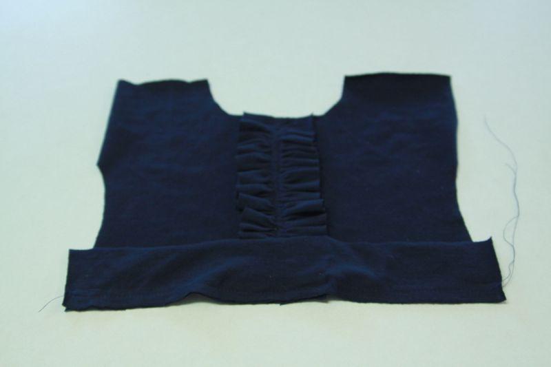 dress bodice with waistband piece sewn on